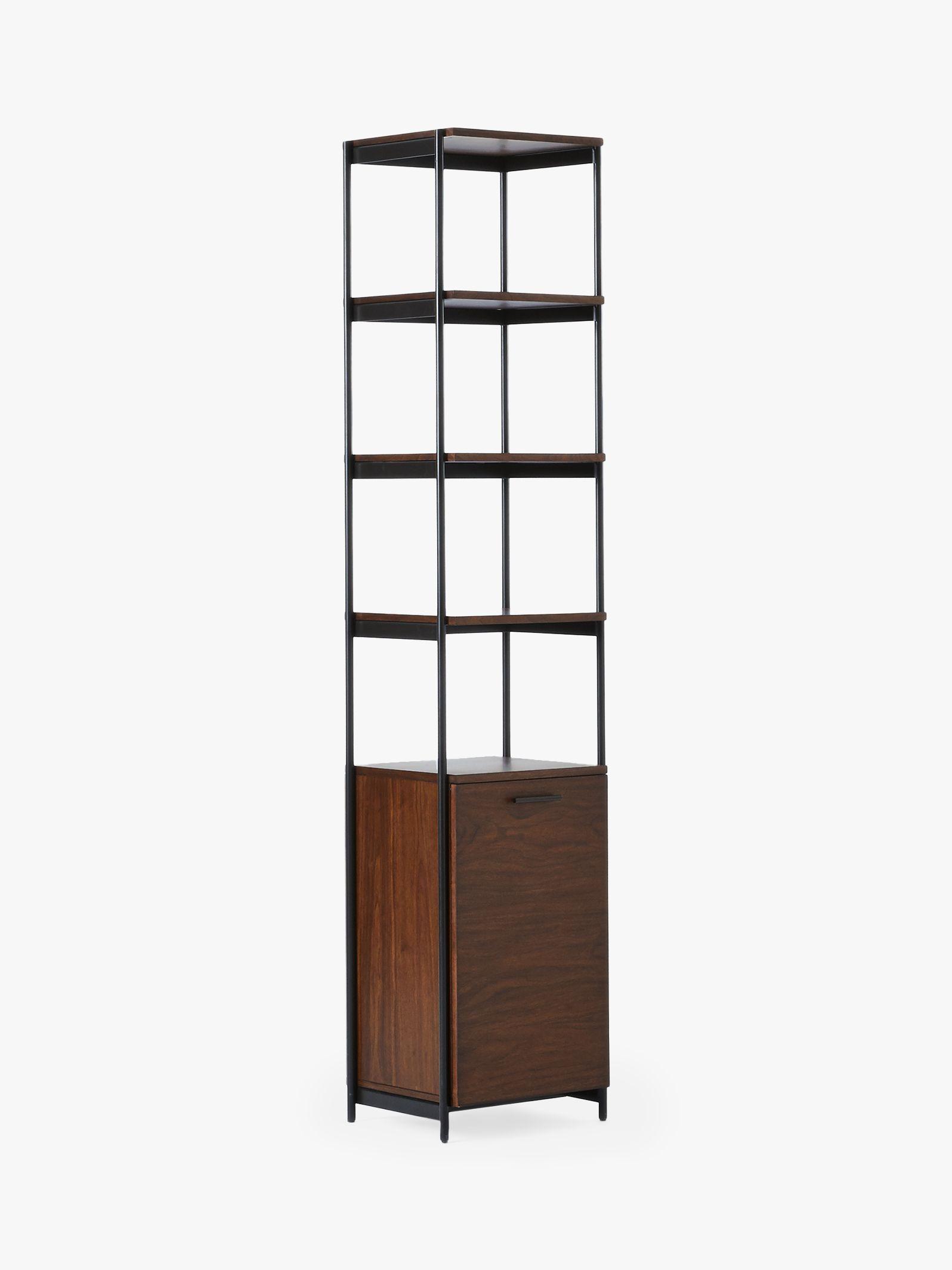 West Elm Foundry Narrow Bookcase Dark Walnut