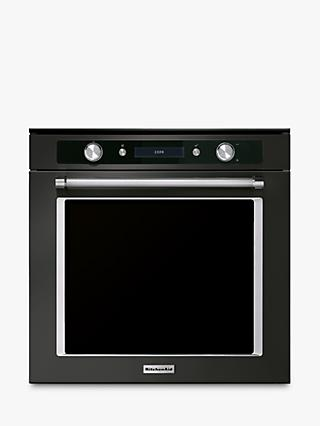 KitchenAid KOHSPB 60604 Built-In Pyrolitic Single Oven, Black Steel