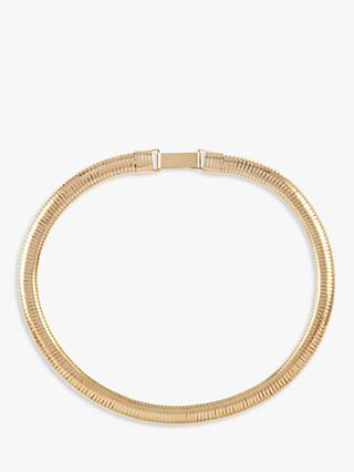 Susan Caplan Vintage Gold Plated Flexible Collar Necklace, Gold