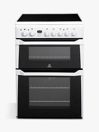 Indesit ID60C2(W) S 60cm Double Electric Cooker, B Energy Rating, White