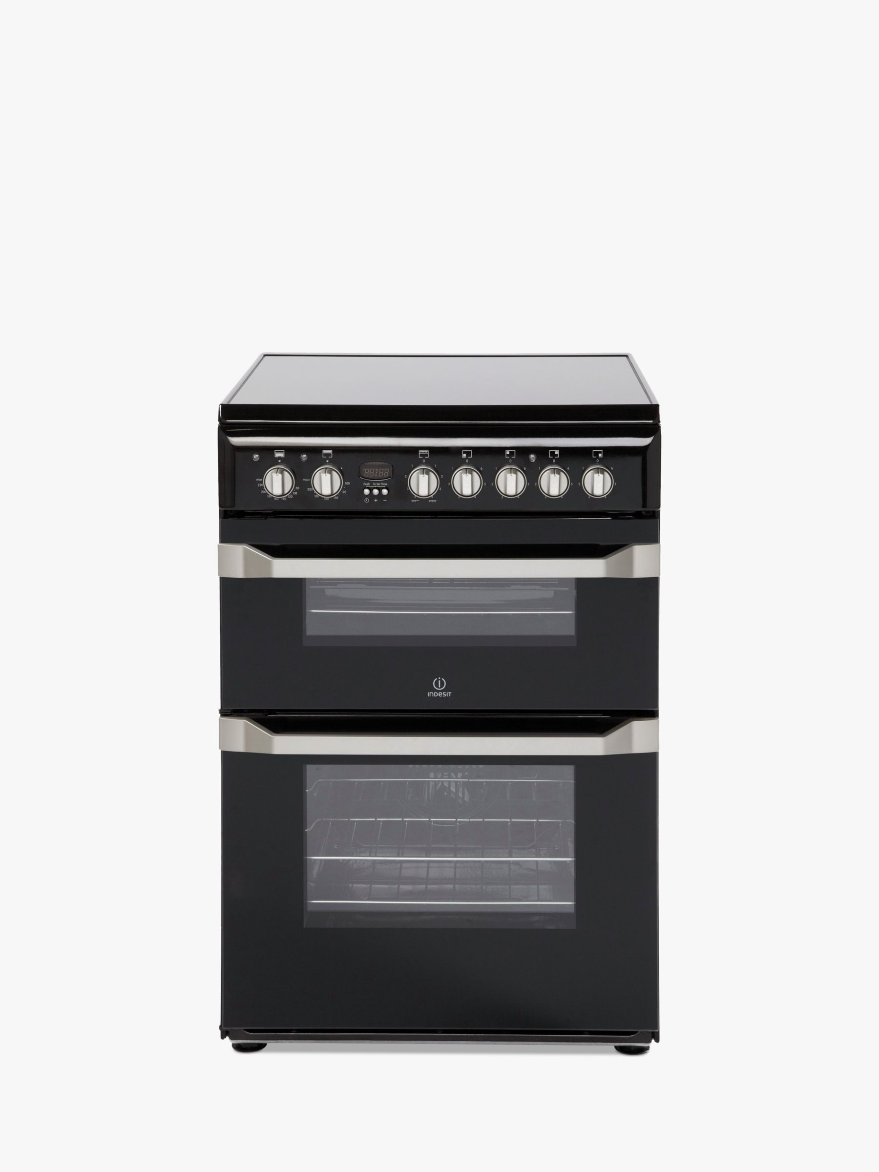 Indesit Indesit ID60C2(K) S 60cm Double Electric Cooker, A Energy Rating, Black