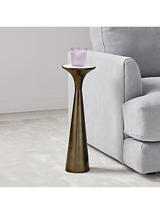 west elm Silhouette Marble Side Table, Bronze