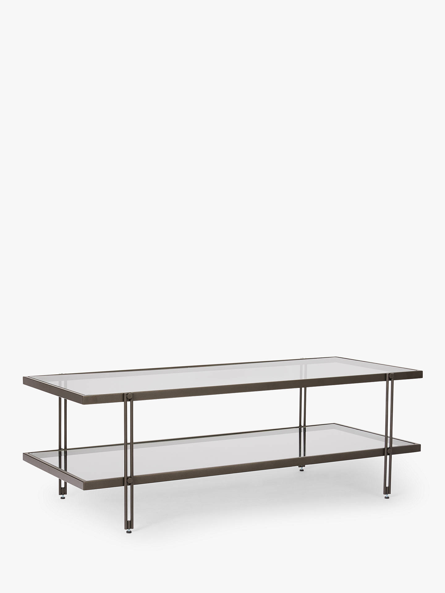 West Elm Fulton Glass Coffee Table Bronze