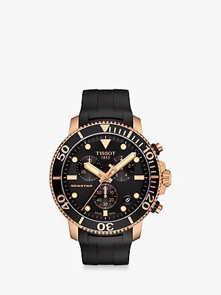84886254662 Tissot T1204173705100 Men's Seastar Chronograph Date Rubber Strap Watch, ...