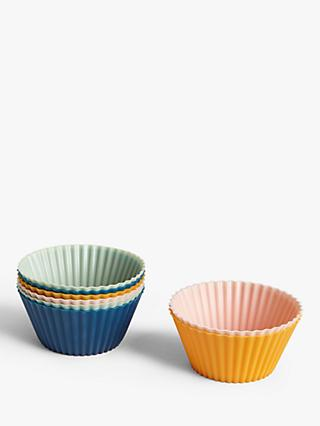 John Lewis & Partners Reusable Silicone Non-Stick Cupcake Cases, Pack of 24, Assorted