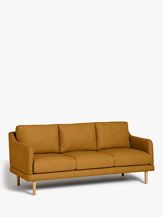 House by John Lewis Sweep Large 3 Seater Sofa, Light Leg