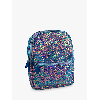 Speakmark Small Glitter Lunch Backpack Bag, Peacock/Multi