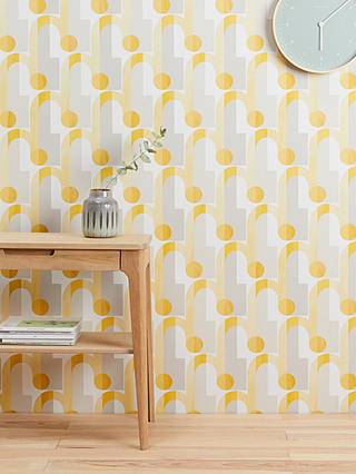 Buy John Lewis & Partners Arcade Wallpaper, Yellow Online at johnlewis.com