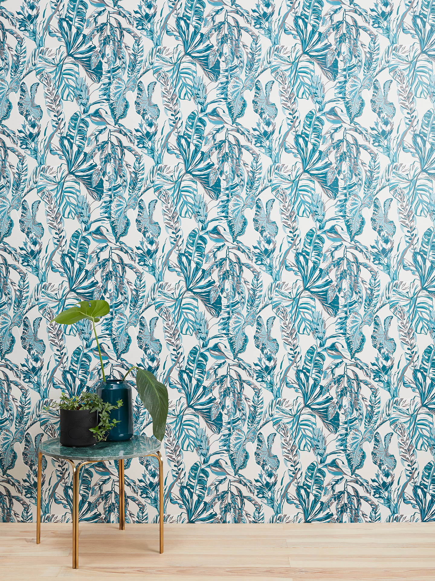 Buy John Lewis & Partners Carara Wallpaper, Green Online at johnlewis.com