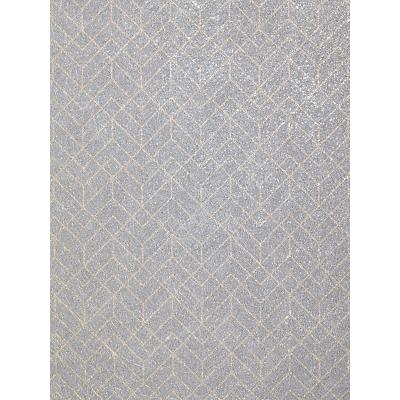 Image of John Lewis & Partners Brushed Geometric Wallpaper, Dark Grey