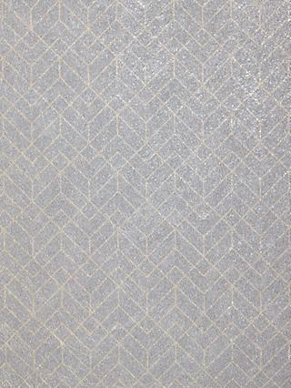 John Lewis & Partners Brushed Geometric Wallpaper, Dark Grey