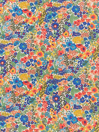 Liberty Margaret Anne Floral Print Fabric, Red/Multi