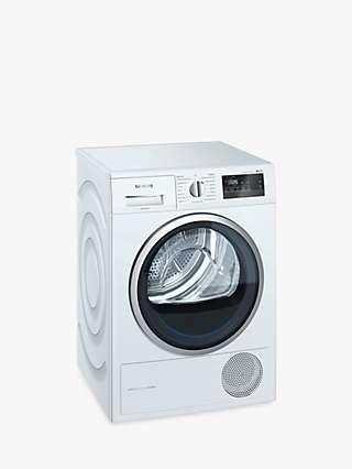 Siemens iQ300 WT45M232GB Heat Pump Tumble Dryer, 8kg Load, A++ Energy Rating, White