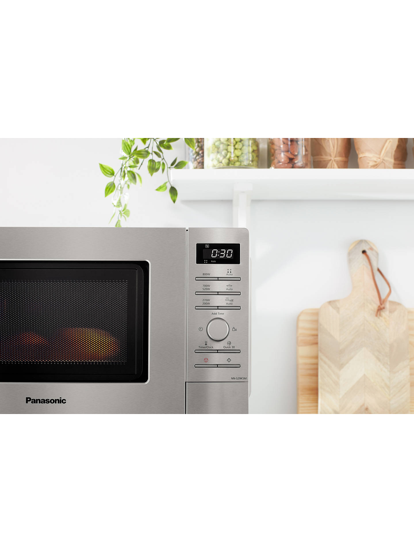 Buy Panasonic NN-S29KSMBPQ 20L Microwave Oven, Stainless Steel Online at johnlewis.com