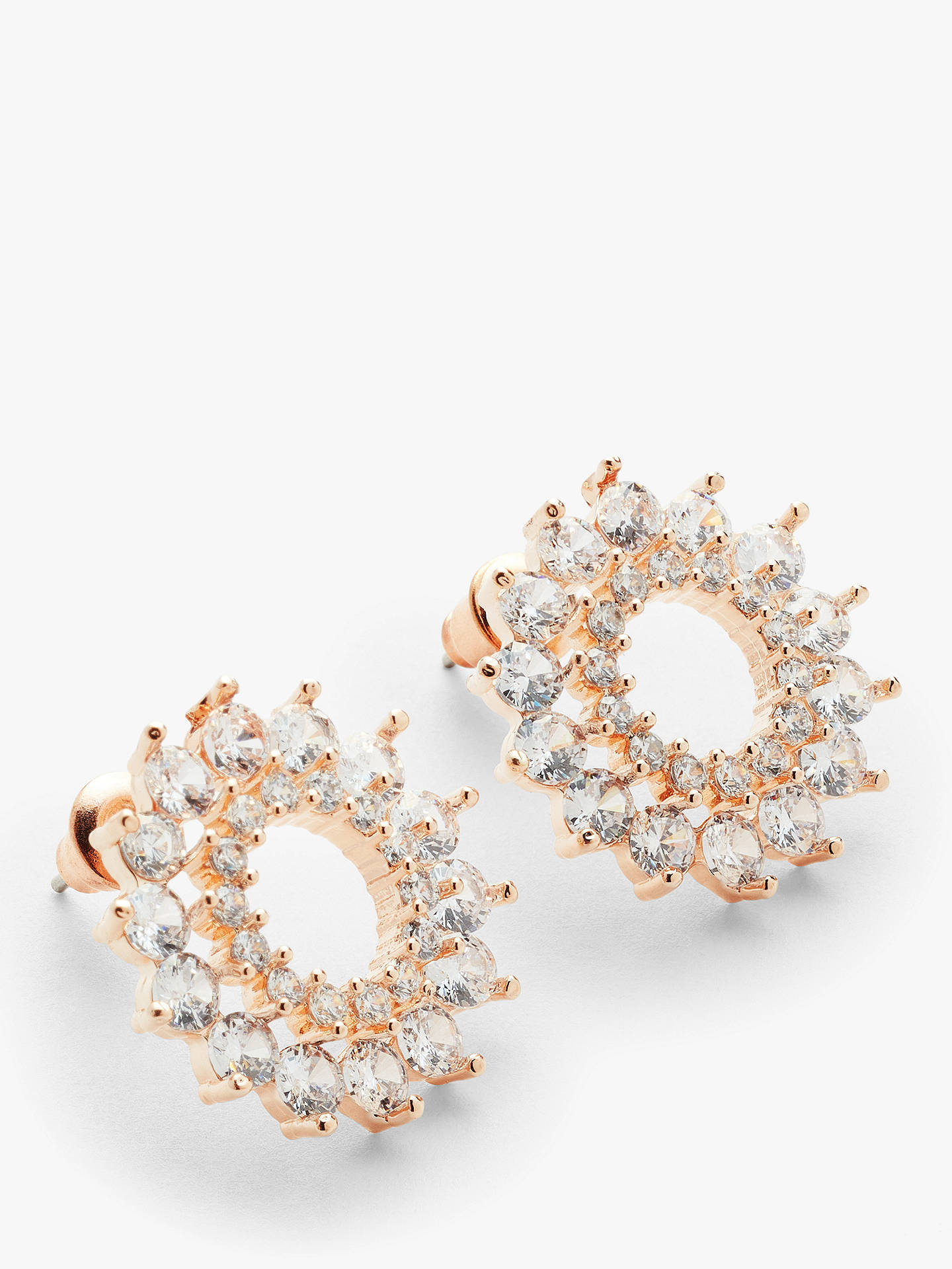 866bd6cc5940 ... Buy John Lewis & Partners Cubic Zirconia Large Open Stud Earrings, Rose  Gold Online at