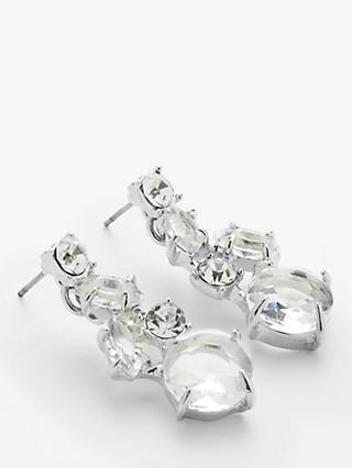 b19b7c226 John Lewis & Partners Cubic Zirconia and Glass Drop Earrings, Silver