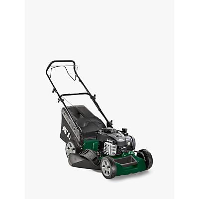 Atco Quattro 16S Hand-Propelled Petrol Lawnmower, Green