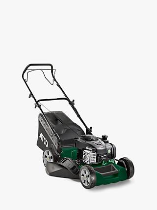 Atco Quattro 16S Hand-Propelled Petrol Lawnmower, Green