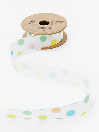 Berisfords 25mm Coloured Dotty Ribbon, 3m