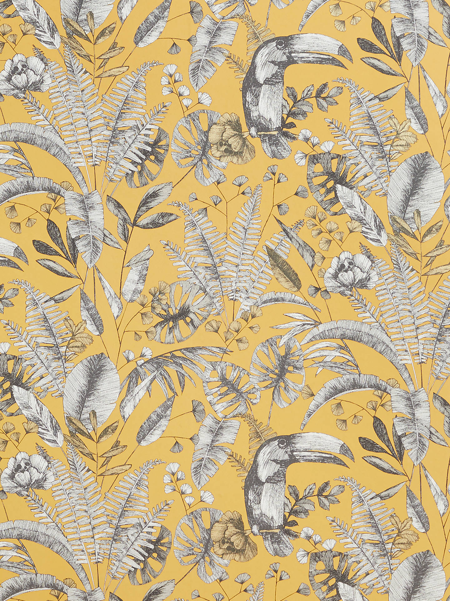 Buy John Lewis & Partners Ipanema Heritage Paste the Wall Wallpaper, Yellow Online at johnlewis.com