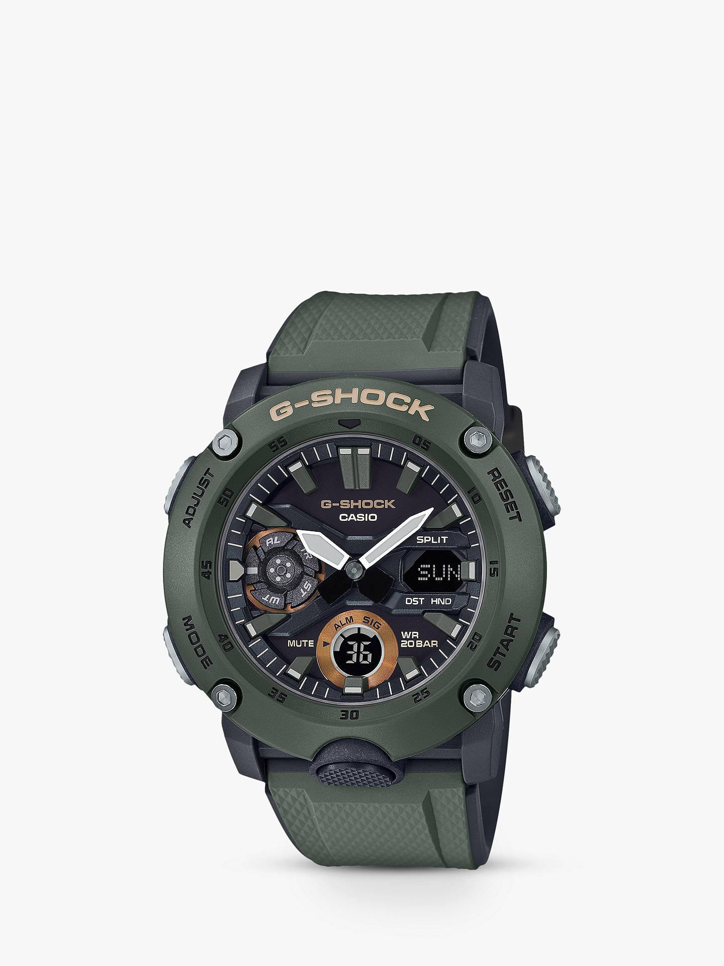 f0a819435975 Casio GA-2000-3AER Men s G-Shock Chronograph Day Resin Strap Watch ...