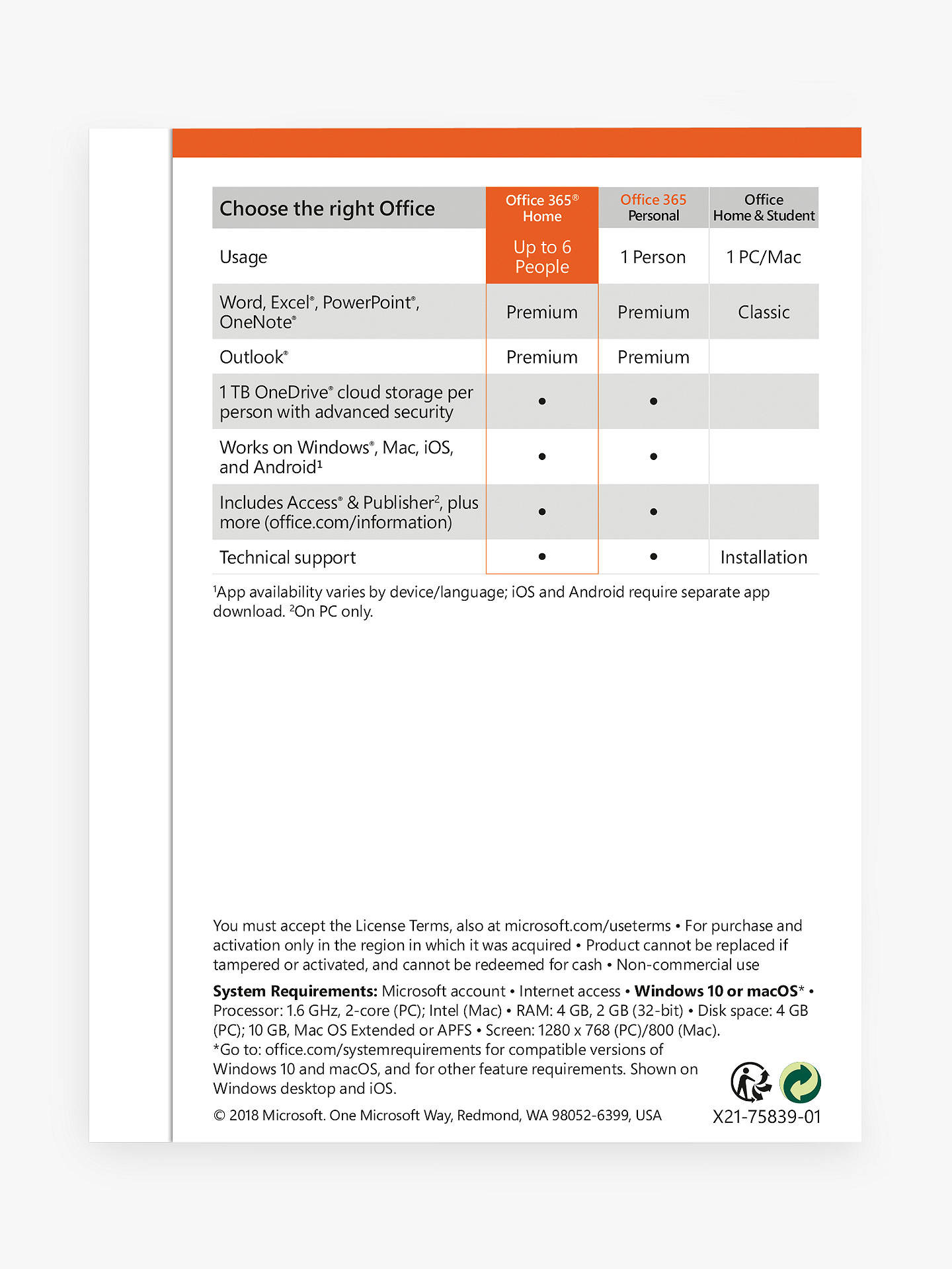 Microsoft Office 365 Home Premium, PC/Mac, Tablets and Smartphones,  One-Year Subscription & Norton Security 3 0: 1 User, 5 Devices (Bundle)