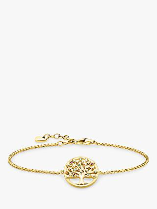 THOMAS SABO Glam & Soul Multi Stone Tree of Love Charm Chain Bracelet