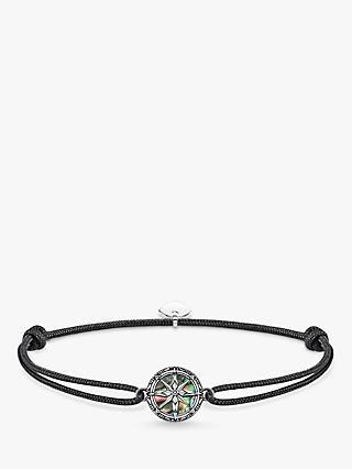e7a29768b THOMAS SABO Little Secret Compass Abalone Mother of Pearl Bracelet,  Silver/Black