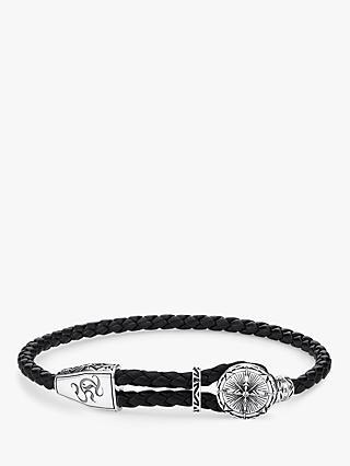 0e863c57c THOMAS SABO Men s Rebel at Heart Compass Leather Bracelet