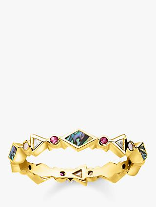 THOMAS SABO Glam & Soul Multi Stone Infinity Ring, Gold/Multi
