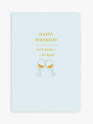 Art File Party Til 9PM Birthday Card