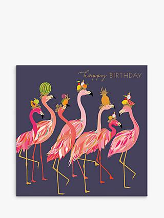 Art File Flamingo Fruit Hat Birthday Card