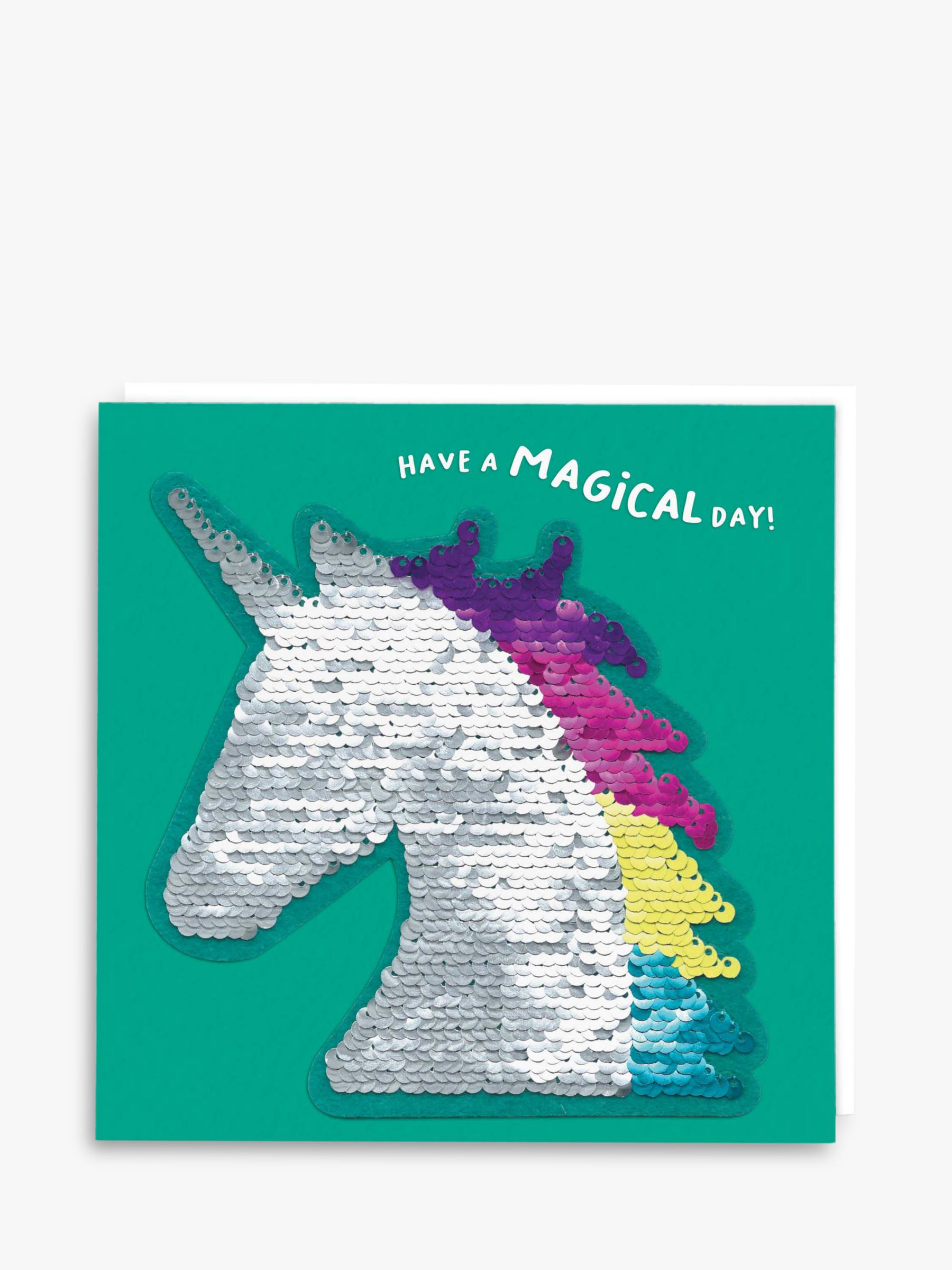 Redback Cards Redback Cards Sequin Unicorn Birthday Card