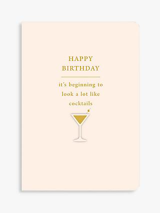 Art File Cocktails Birthday Card