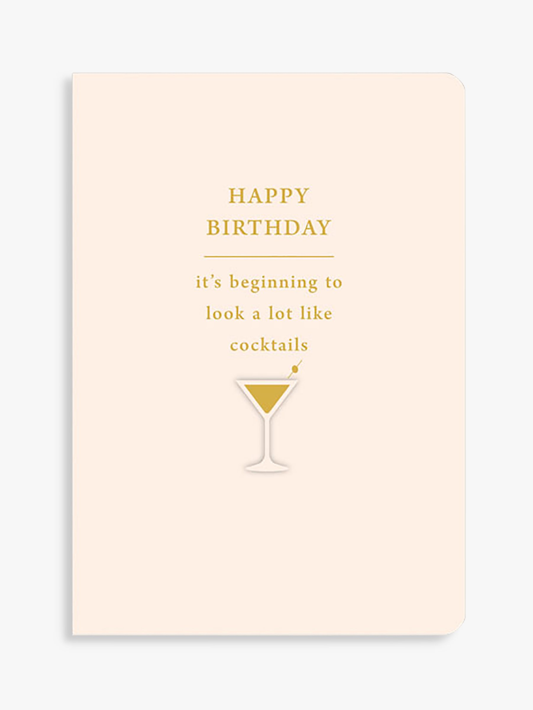 Art File Art File Cocktails Birthday Card