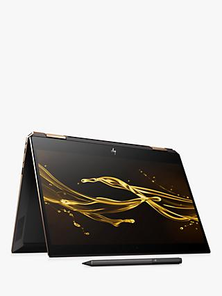 "HP Spectre x360 13-ap0001na Convertible Laptop with HP Tilt Pen Stylus, Intel Core i7, 8GB RAM, 512GB SSD, 13.3"" Full HD, Dark Ash Silver"