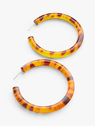 Buy John Lewis & Partners Large Hoop Earrings, Tortoise Online at johnlewis.com