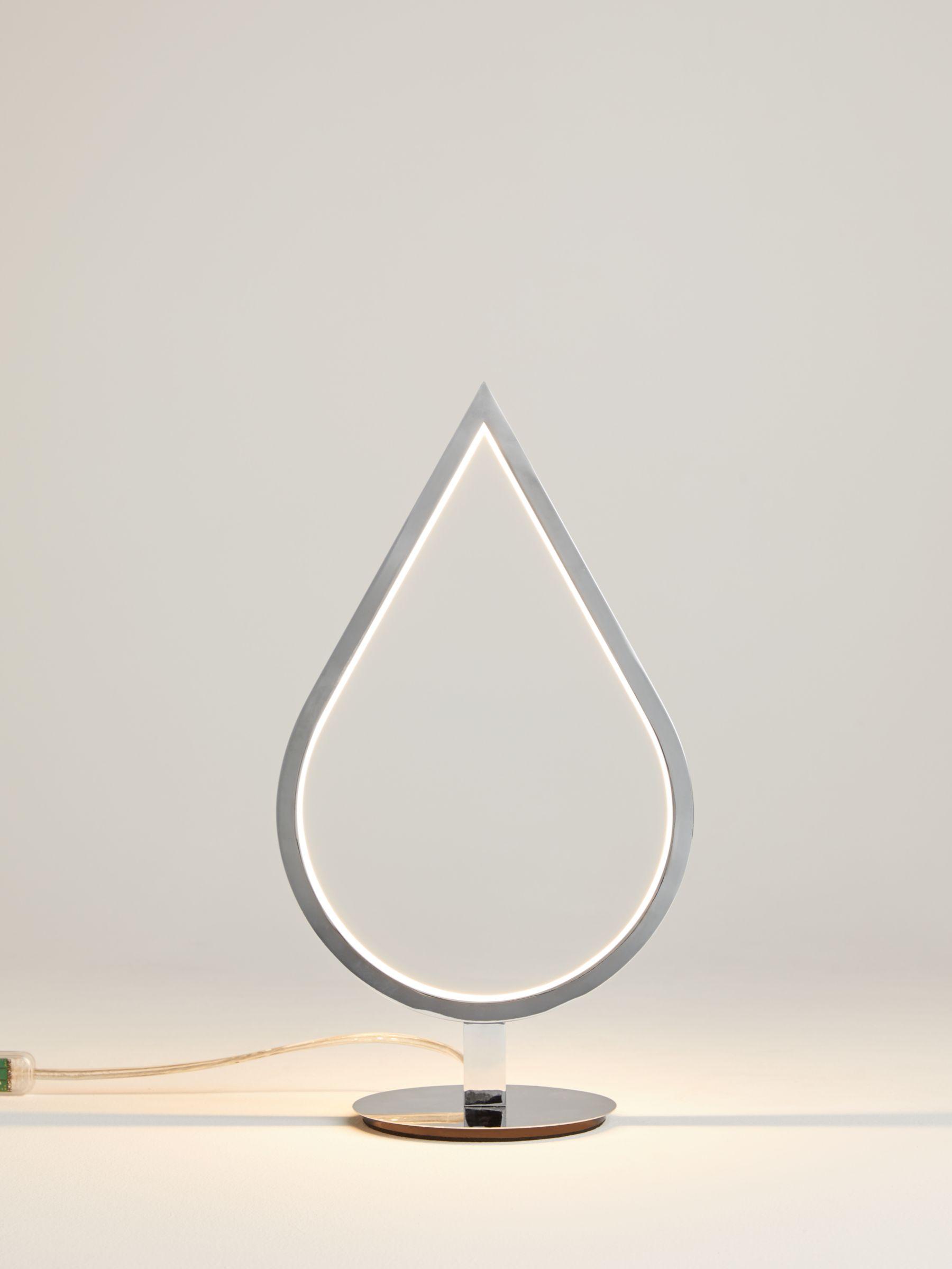 Picture of: John Lewis Partners Teardrop Led Table Lamp Chrome At John Lewis Partners