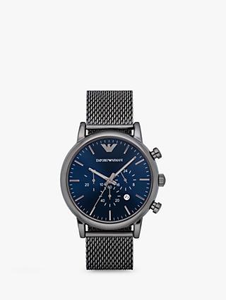 37700684f843 Emporio Armani AR1979 Men s Chronograph Date Mesh Bracelet Strap Watch