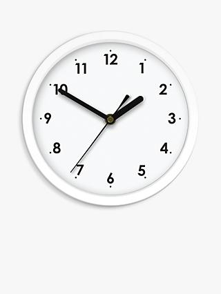 House by John Lewis Wall Clock, 20cm, White
