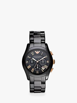 af835cfd559 Emporio Armani AR1410 Men s Chronograph Date Ceramic Bracelet Strap Watch