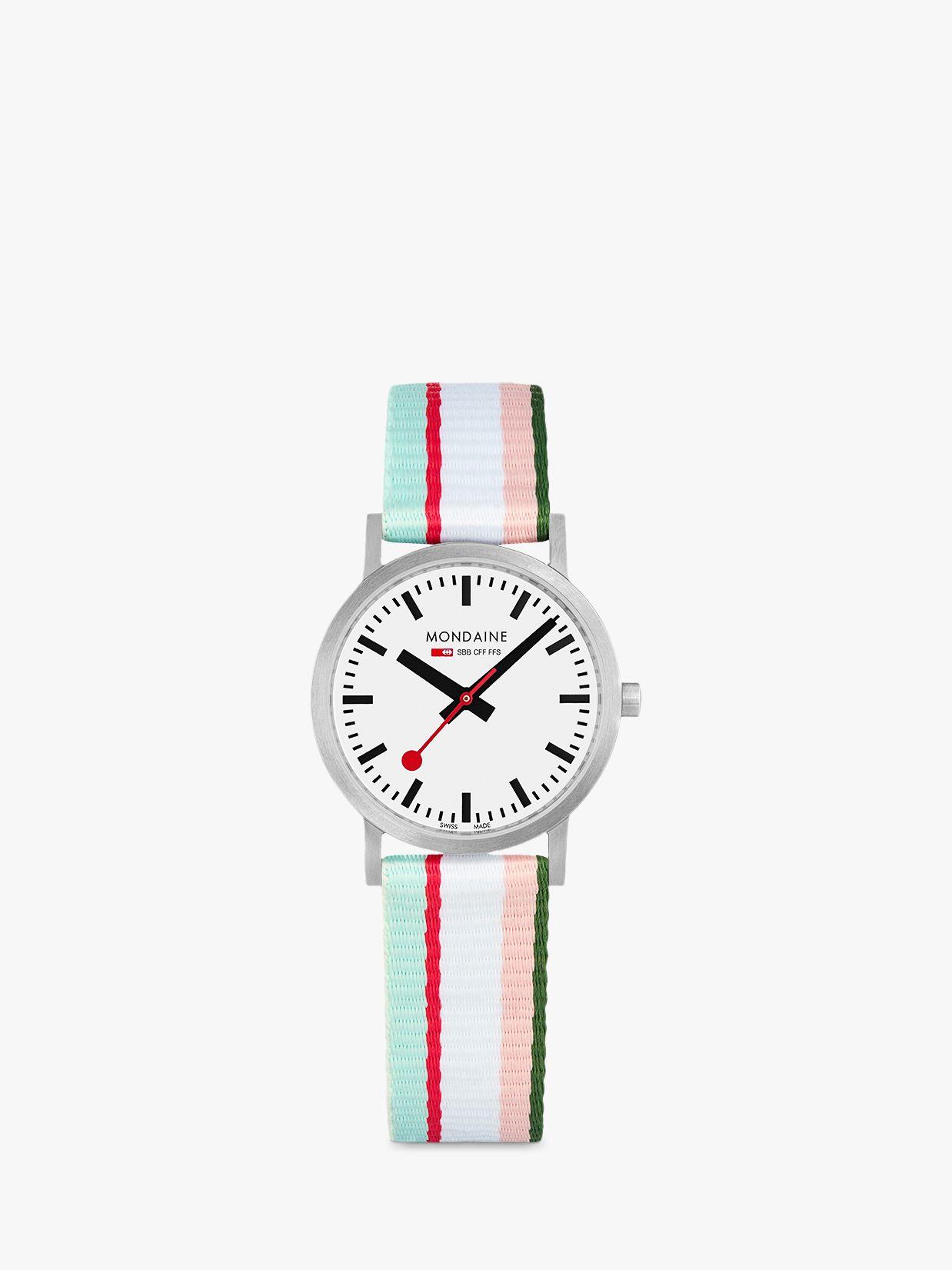 Mondaine Mondaine Women's SBB Classic Fabric Strap Watch