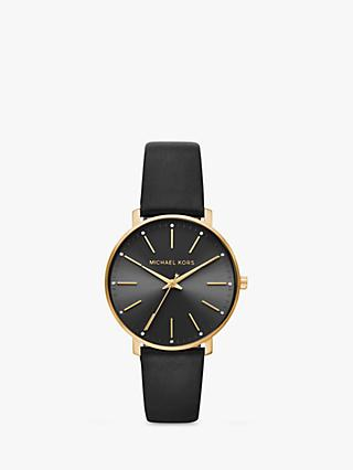 56788c46c3c5 Michael Kors Women s Pyper Leather Strap Watch