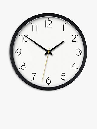 House by John Lewis Wall Clock, 25cm, Black