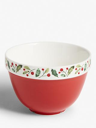 John Lewis & Partners Traditions Pudding Basin, Red/Multi, 1L