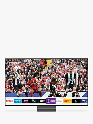 "Samsung QE65Q90R (2019) QLED HDR 2000 4K Ultra HD Smart TV, 65"" with TVPlus/Freesat HD & Apple TV App, Carbon Silver"