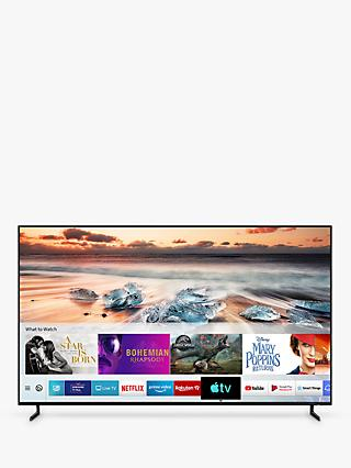 "Samsung QE82Q950R (2019) QLED HDR 4000 8K Ultra HD Smart TV, 82"" with TVPlus/Freesat HD, Apple TV App & No-Gap Wall Mount, Black"