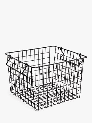 House by John Lewis Stackable Wire Basket