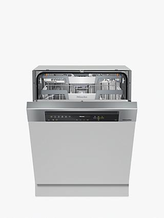 Miele G7310SC Semi-Integrated Dishwasher, A+++ Energy Rating, Clean Steel