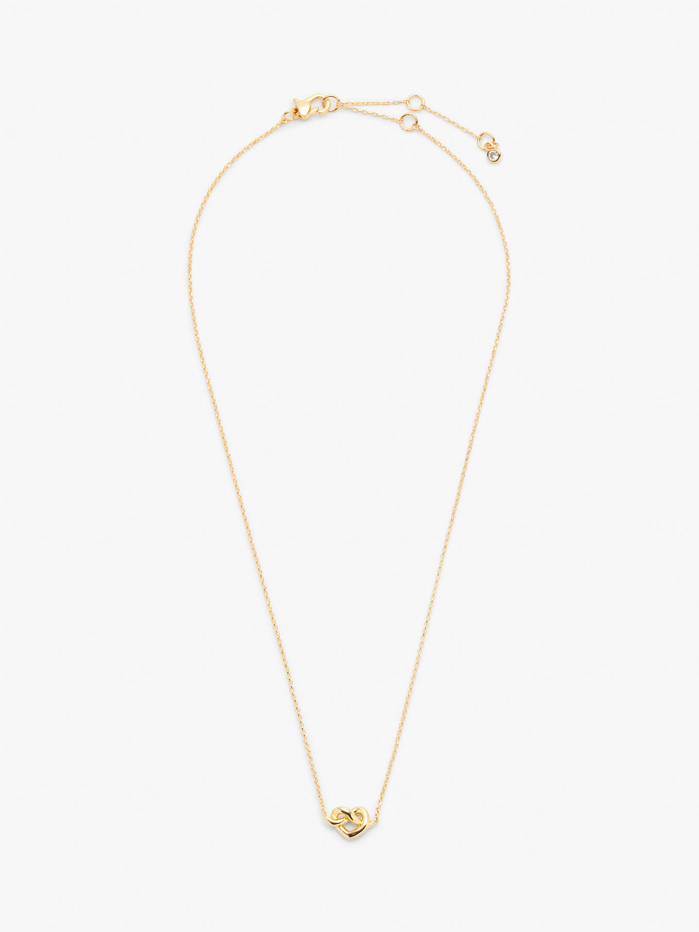 Buy kate spade new york Loves Me Knot Heart Pendant Necklace, Gold Online at johnlewis.com